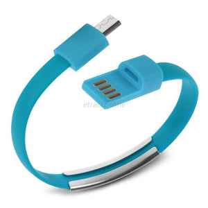Cheapest and Best Reviews for Bracelet USB Charger Cable Samsung / Blue at trendingvip.com