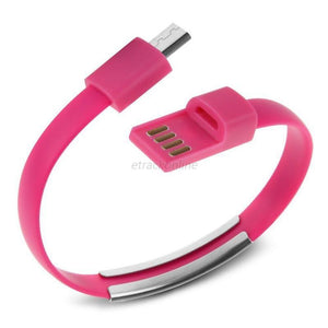 Cheapest and Best Reviews for Bracelet USB Charger Cable Samsung / Red at trendingvip.com