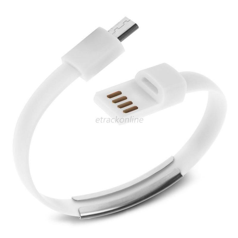 Cheapest and Best Reviews for Bracelet USB Charger Cable Samsung / White at trendingvip.com