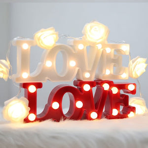 Cheapest and Best Reviews for 3D LED Table Decoration Lamp Red Love at trendingvip.com