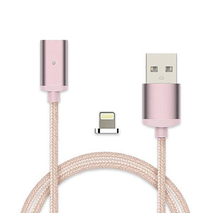 Cheapest and Best Reviews for 2.4A High Speed Charging Magnetic Cable For Android Or Apple Product Rose Gold / For iPhone at trendingvip.com