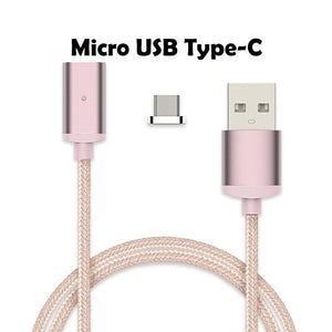 Cheapest and Best Reviews for 2.4A High Speed Charging Magnetic Cable For Android Or Apple Product Rose Gold / For Micro USB Type-C at trendingvip.com