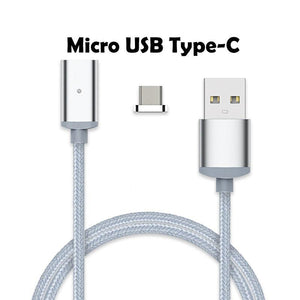 Cheapest and Best Reviews for 2.4A High Speed Charging Magnetic Cable For Android Or Apple Product Silver / For Micro USB Type-C at trendingvip.com