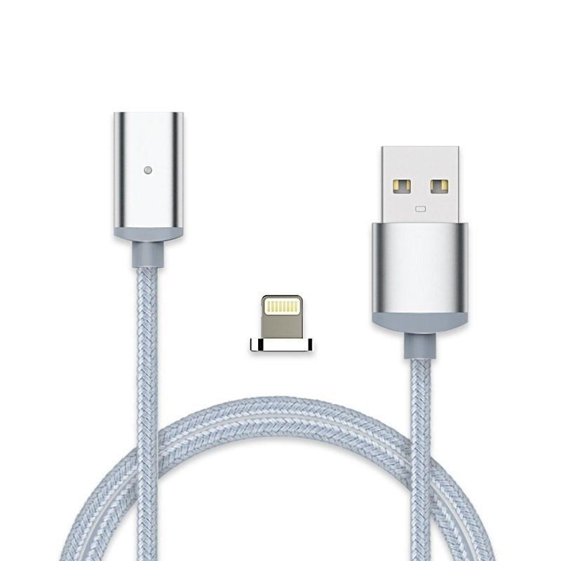 Cheapest and Best Reviews for 2.4A High Speed Charging Magnetic Cable For Android Or Apple Product Silver / For iPhone at trendingvip.com