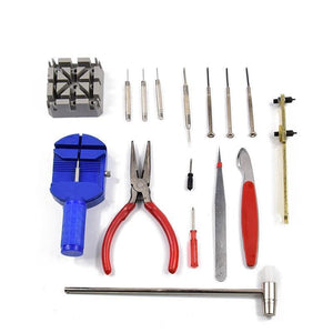Cheapest and Best Reviews for 16 Pcs Deluxe Watch Tool Kit  at trendingvip.com