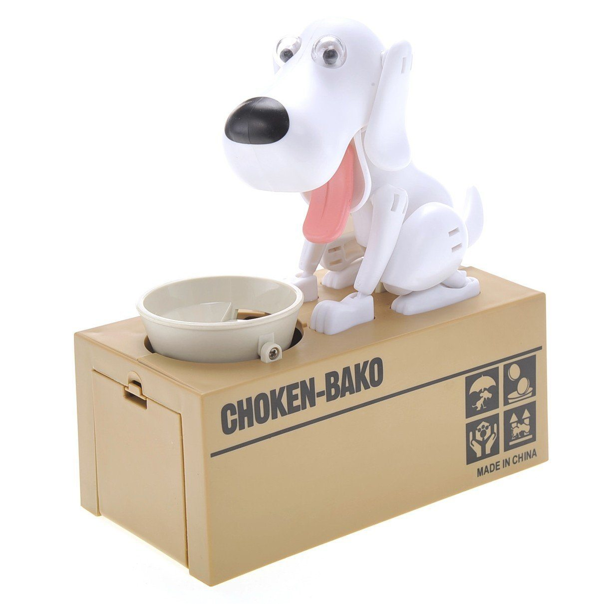 Cheapest and Best Reviews for Dog Coin Bank White at trendingvip.com