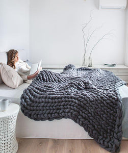 Chunky Knitted Blanket Home, latest, new, Recommended, Travel, Women Trending Vip