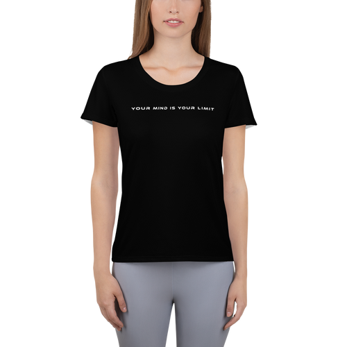 Women's Athletic T-shirt - Black