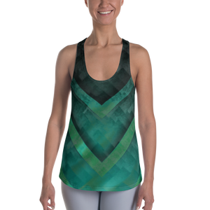 A&F  Tank Top - Green Triangles