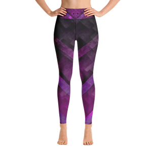 A&F High Waist Leggings - Purple Triangles