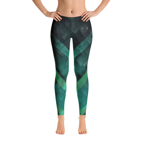 A&F Leggings - Green Triangles