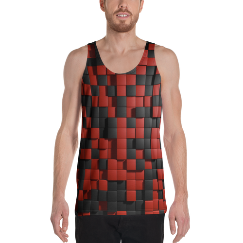 A&F Tank Top - Red and Black Quadrants