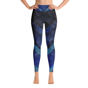 A&F High Waist Leggings - Blue Triangles