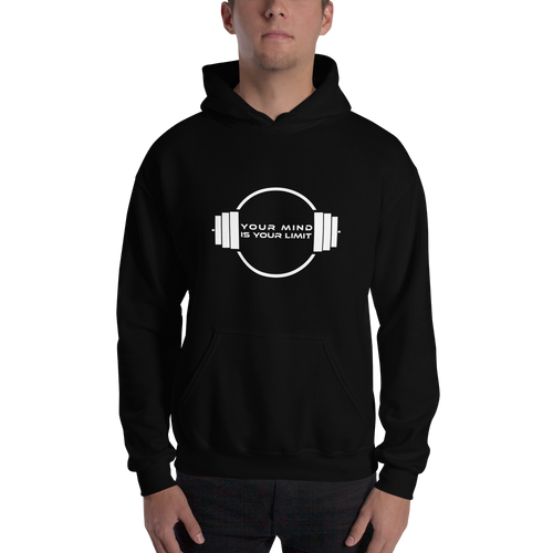 B&W Hooded Sweatshirt - Black and White