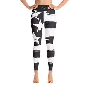 B&W High Waist Leggings - USA