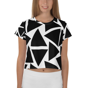 A&F Crop Tee - Triangles