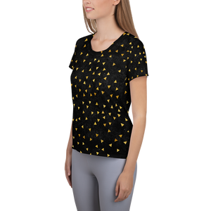 Women's Athletic T-shirt - Golden Trianlge