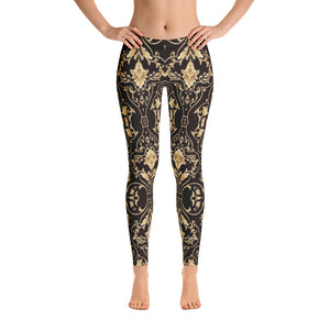 Limited Leggings - Golden Flowers