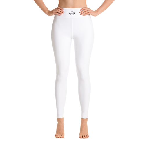 B&W High Waist Leggings White