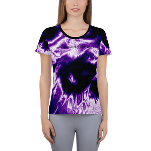 Women's Athletic T-shirt - Galaxy
