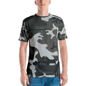 B&W T-Shirt - Camo Black