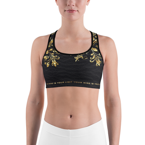 Limited Sports Bra - Golden Flowers