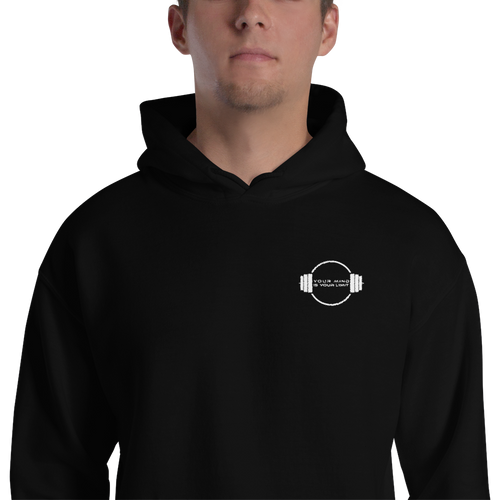 B&W Hooded Sweatshirt - Embroidered Logo