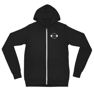 B&W Ultra Light Zip Hoodie - Black