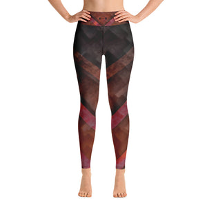 A&F High Waist Leggings - Red Purple