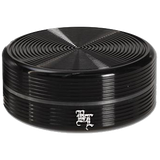 Black Leaf Aluminium 'Ripple' 2 Part Grinder - Black