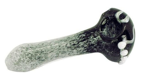 Colour Changing Glass Pipe - Black/White