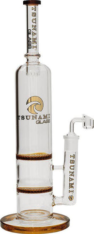 Tsunami Waterpipe Double Honeycomb Dab Rig