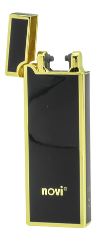 Novi Rechargeable Plasma Lighter - Black & Gold