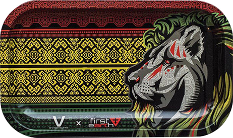 Rasta Lion Metal Rolling Tray Large