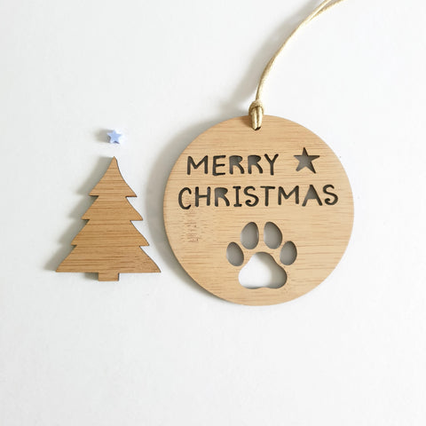 Christmas Decoration Paw Design - Little Birdy Finds