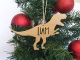 Personalised T-REX Christmas Tree Decoration