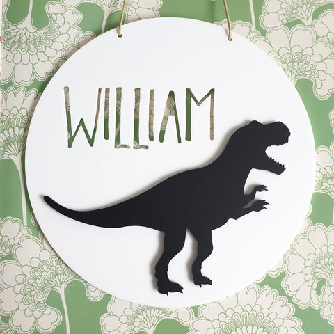 Monochrome T-Rex Wall Plaque