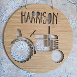 Vintage Tractor Personalised Wall Plaque