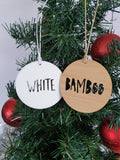 Personalised Wood Christmas Decoration / Ornament DEER HEAD DESIGN - Little Birdy Finds