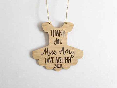 Personalised Dance Teacher Merry Christmas or Thank You - Little Birdy Finds
