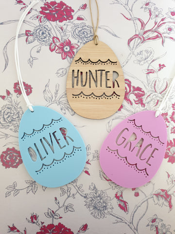 PERSONALISED Easter Tags - Little Birdy Finds