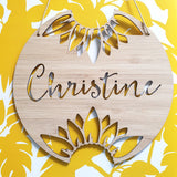 Personalised Sunflower Wall Plaque
