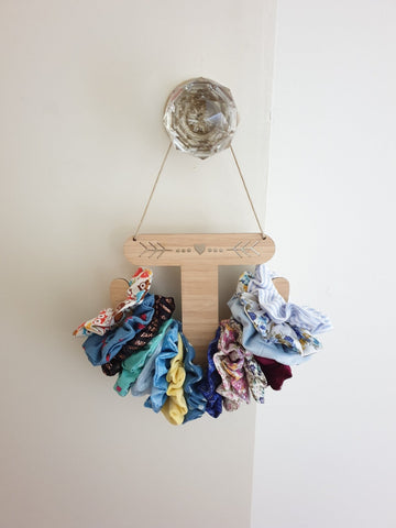 Scrunchie Holder - Heart & Arrow Design