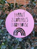 Personalised Cubby House Sign - Rainbow Design
