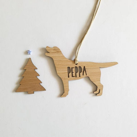 LABRADOR RETRIEVER Personalised  Christmas Decoration - Little Birdy Finds - Australian made, personalised children's decor, bag tags, cubby house signs, christmas decorations, custom made, personalised decor, personalised gifts, keepsake