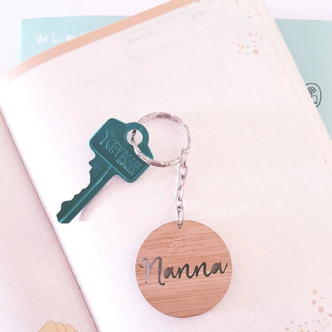 Nanna Mini Wood Keyring - Little Birdy Finds