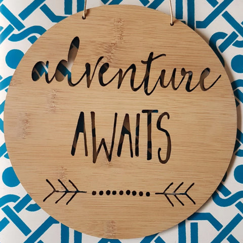 Adventure Awaits Wooden Wall - Little Birdy Finds
