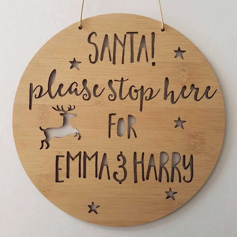 Personalised Christmas Santa Please Stop Here! - Little Birdy Finds