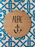 Personalised Wall Hanging Anchor Design - Little Birdy Finds