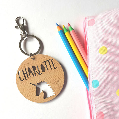 Unicorn Bag Tag / Keyring - Little Birdy Finds
